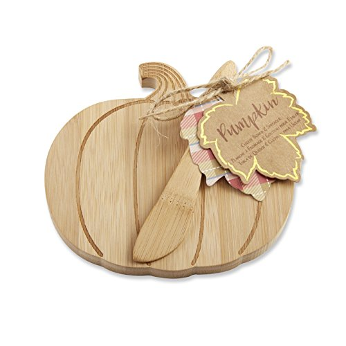 Kate Aspen Pumpkin Cheeseboard, Beige