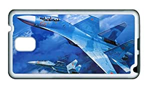 Sale crazy Samsung N9000 case Su 27 military fighter in blue sky TPU White for Samsung Note 3/Samsung N9000
