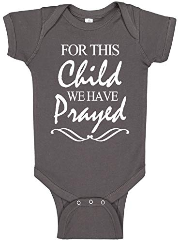 Aiden's Corner - for This Child - Baby Boy & Baby Girl Clothes - Religious Bodysuits (0-3 Months, Charcoal)