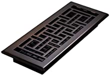 Decor Grates AJH412-RB Oriental Floor Register, Rubbed Bronze, 4-Inch by 12-Inch