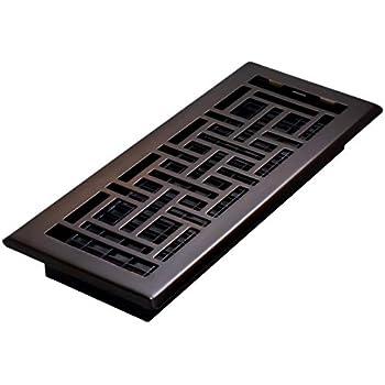 Decor Grates AJH412-RB Floor Register, 4 x 12, Rubbed Bronze