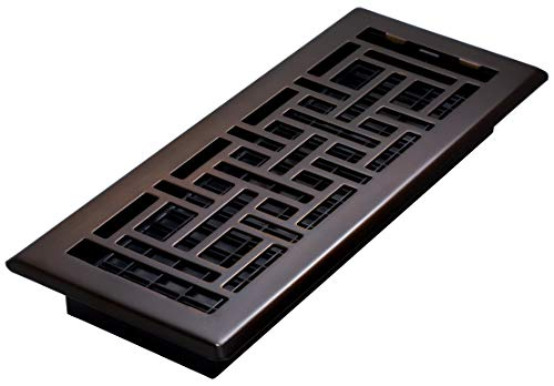 (Oriental Floor Register, Rubbed Bronze, 4-Inch by 12-Inch)