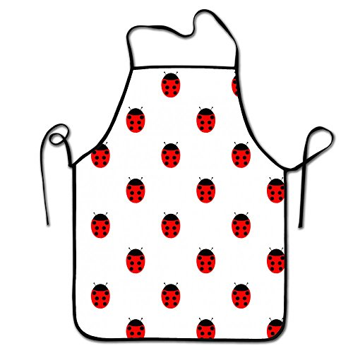 liubajsdj-Ladybug Women Kitchen Apron Without Pockets,Adjustable Waist Straps And Comfortable For Cooking, (Ladybug Apron)
