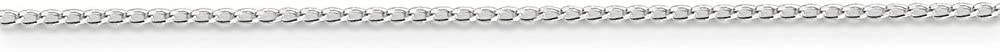 Solid 925 Sterling Silver 1.00mm Open Link Curb Cuban Chain Necklace
