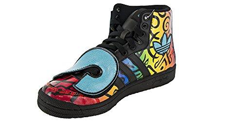Adidas JS LETTERS MULTICOLOR Chaussures Homme Cuir Noir Multicolore Jeremy Scott (5.5 UK)