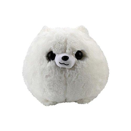 YOYORI Cartoons Doll Toys-Stuffed Toy Soft Baby Doll Lovely Plush Doll Cute Pomeranian Dog Toy Kids Gift (White)