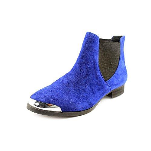 Shellys London BRAZDOVA, Chelsea Stiefel Frauen, Geschlossener Zeh, Wildleder Blue
