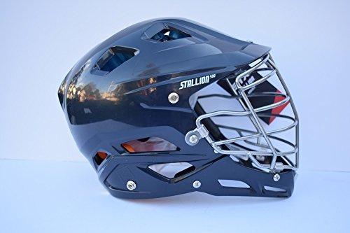 STX Lacrosse Stallion 500 Helmet, Navy, Large