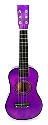 Acoustic Classic Rock 'N' Roll 6 Stringed Toy Guitar Musical Instrument w/ Guitar Pick, Extra Guitar String from Velocity Toys