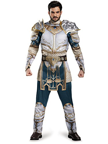 Disguise Men's Warcraft King Llane Muscle Costume, Multi, (Mens Warrior Costumes)