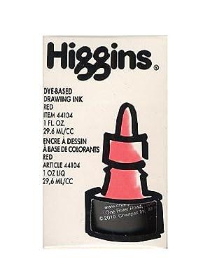 Higgins Color Waterproof Drawing Inks red [PACK OF 4 ]