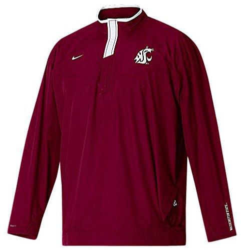 Nike Washington State Cougars Crimson Coaches Safety Blitz PullOver Windshell Jacket (XL=48) (Nike Coaches Gear)