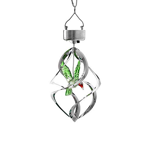 Solar Wind Chimes Hummingbird Solar Outdoor Hanging Decor for Garden