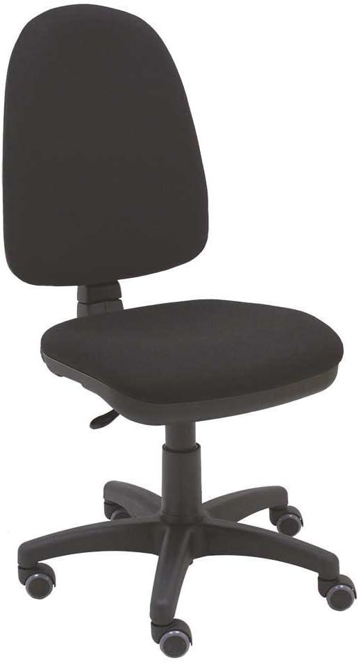 La Silla de Claudia - Silla giratoria de escritorio Torino negro para oficinas y hogares ergonómica con ruedas de parquet