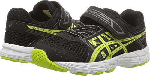 ASICS Kids PRE-Contend 4, Black/Neon Lime, 8 M US Toddler