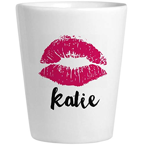 Katie Birthday Kiss Gift: Ceramic Shot -