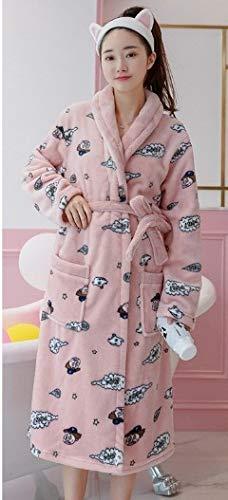 Albornoces Suave Ysfu Inicio Largo Dormir Yukata Otoño Damas Invierno Mujeres Albornoz De E Camisón Cómoda Espesamiento Las Ropa Pijamas Femenino ZdrwHd