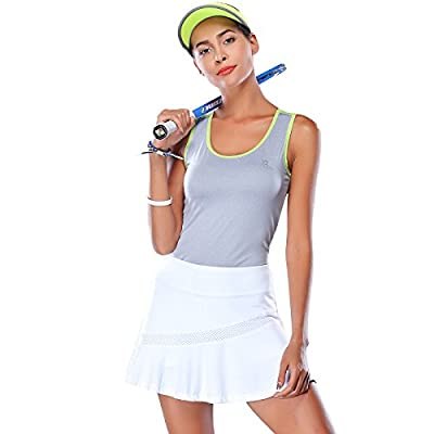 Camel Women Casual Active Sport Skirt Lightweight Breathable for Athletic Tennis Running Jogging Beach Golf Workout Skorts