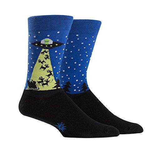 Sock It to Me, The Alien Who Stole Christmas, Men's Crew Socks, Christmas, Holiday Socks