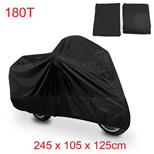 "uxcell XL 180T Rain Dust Protector Black Scooter Motorcycle Cover 96"" Fit to All Scooter & Mopeds Yamaha Honda Suzuki Kawasaki Ducati Bmw"