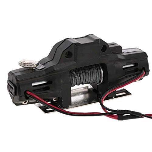 Maonet  Warn Double Motors Winch w/ Remote Controller Receiver for 1/10 Traxxas SCX10 D91 HPI RC Crawler Car (As Shown)