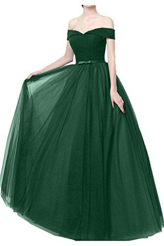 Partykleid Einfach Ivydressing Promkleid Dunkelgruen Schulter Tuell Abendkleid von Festkleid A Ab der Linie Damen zHxqZHB