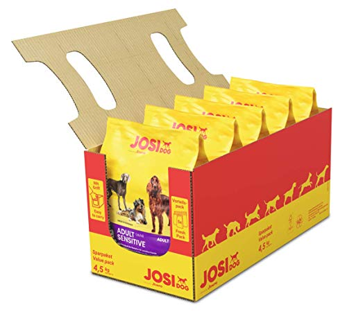 JosiDog Adult Sensitive (5x900g) |Hundefutter für sensible Hunde | Premium Trockenfutter für ausgewachsene Hunde…
