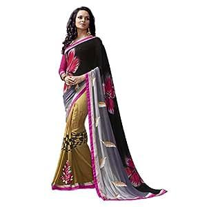 Shilp-Kala Faux Georgette Printed Multi Colored Saree SKN71002
