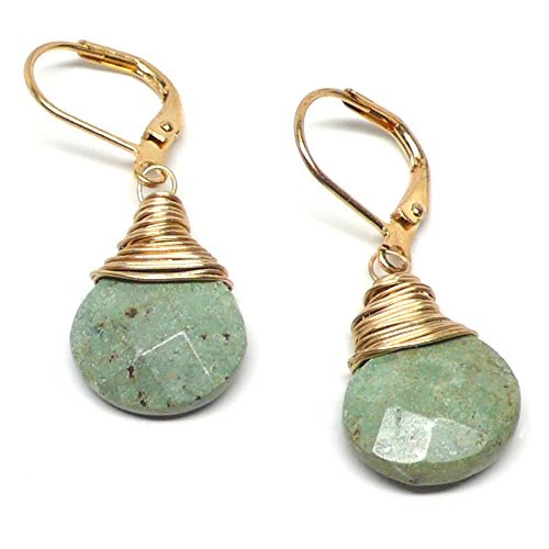 iolette Lever Back Earrings Wire-Wrapped Gold-Tone ()
