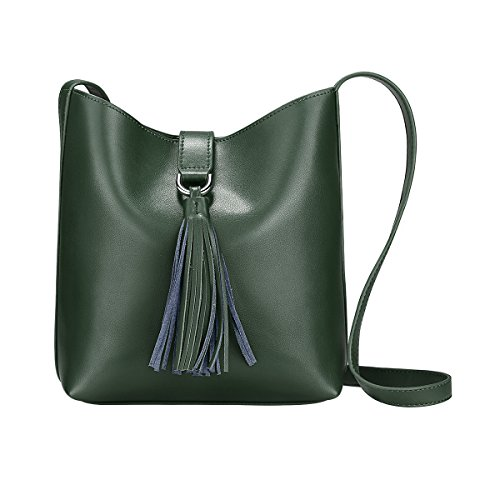 Green Leather Handbag - 6