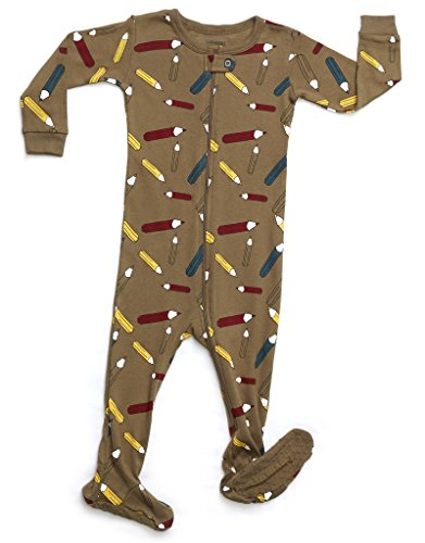 Leveret Organic Cotton Pencil Footed Pajama Sleeper