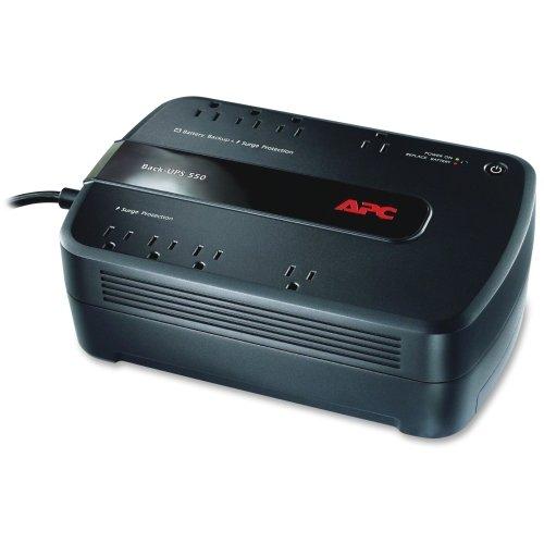 APC Back-UPS ES 550VA Desktop UPS - 550VA/330W - 3.3 Minute Full Load - 4 x NEMA 5-15R - Battery Backup System, 4 x NEMA 5-15R - Surge-protected