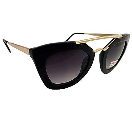 Dasoon vision Gafas de Sol de Forma Irregular de Pasta Negra ...