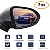 Car Rearview Mirror Rainproof Film 2Pcs Anti-Fog/Anti-glare/Anti-Scratch Universal Rearview Mirror Nano Waterproof Menbrane for All Car SUV and Truck (5.2 3.8inch)