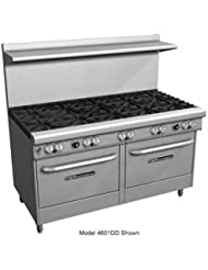 Southbend 4603CC 2CL 60 Ultimate Restaurant Gas Range W 6 Star Saute Burners 24 Left Charbroiler 2 Cabinet Bases
