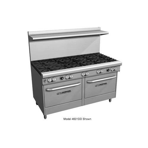 (Southbend 4604DD-2CL LP - 60-in Range w/ 6-Standard Burners & 24-in Left Charbroiler, 2-Oven, LP)
