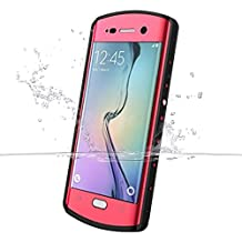Galaxy S6 Edge Plus Case, iThrough? 6.6ft S6 Edge Plus waterproof Underwater Stand Case, Dust Proof, Shock Proof Case, Heavy Duty Protective Cover for Samsung Galaxy S6 Plus Edge, 5.7 Inches (Pink) (Pink)