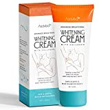 Whitening Cream for Armpits, Intimate Parts, Between Legs - with Collagen - Effective Lightening Cream - Brightens, Nourishes, Moisturizes Underarm, Neck, Knees, Elbows by AsaVea