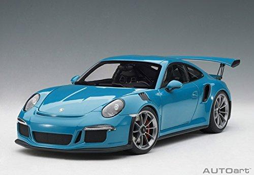 AUTOart Porsche 911 (991) GT3 RS Miami Blue with Dark Grey Wheels 1/18 Model Car ()