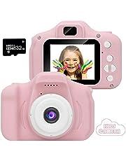 CAMORO Fotocamera per bambini , video / videocamera HD 1080p, schermo LCD da 2 pollici, inclusa scheda di memoria 32GB
