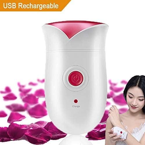 CWXG Afeitadora Mujer Femenina USB Recargable Afeitadora Eléctrica ...