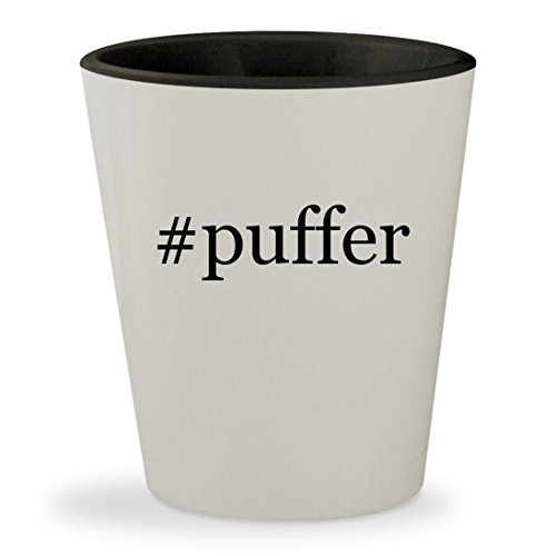 Price comparison product image #puffer - Hashtag White Outer & Black Inner Ceramic 1.5oz Shot Glass