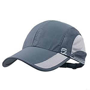 GADIEMKENSD Unstructured Baseball Cap Quick Dry Sports Hat Lightweight Breathable …