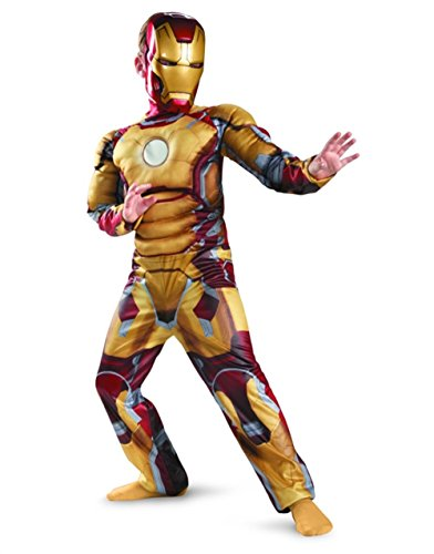 Marvel Iron Man 3 Iron Man Mark 42 Boy's Halloween Costume (LARGE)