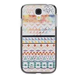 CL - Caso duro del patrón geométrico policromado para Samsung i9500 Galaxy S4