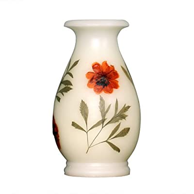 Vase-Shaped Flameless Real Wax LED Candle with Timer