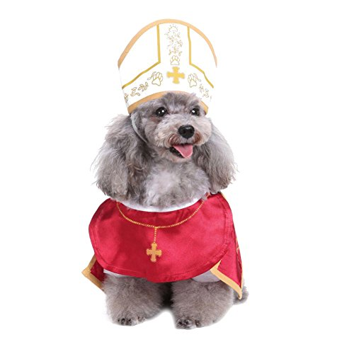 Tutuba Pet Dog Halloween Priest Costume Cosplay Party Dressing up Hoodies (Priest Dog Costume)