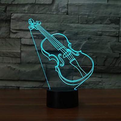 BFMBCHDJ Guitarra Lámpara 3D Iluminación LED 7 Sensor de cambio de ...