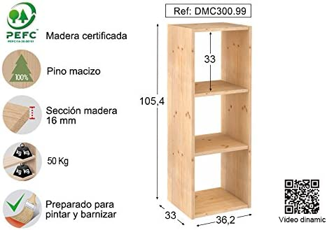 ASTIGARRAGA KIT LINE Estantería modular 3 cubos DINAMIC: Amazon.es ...