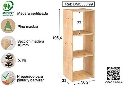 ASTIGARRAGA KIT LINE Estantería modular 3 cubos DINAMIC: Amazon.es: Bricolaje y herramientas